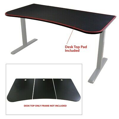 """Boost Industries UNI-DT Ultimate 63"""" Gaming Desk Top Only (Black)"""