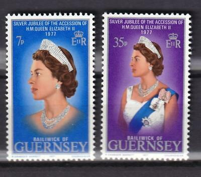 Guernsey MNH 1977 sc#145-146 QEII 25th Anniversary of Reign