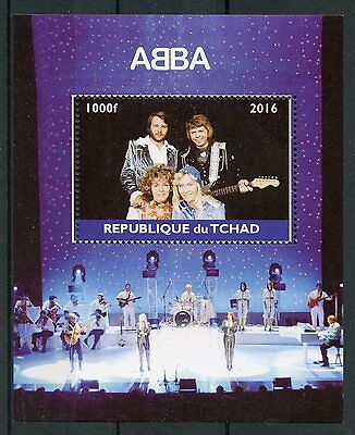 Chad 2016 MNH ABBA in Concert 1v M/S Pop Stars Music Celebrities Stamps