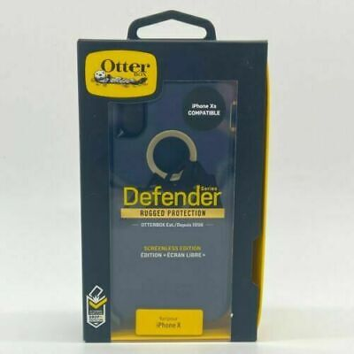 New OEM OtterBox Defender Series Dark Lake Blue Case For iPhone X & iPhone Xs