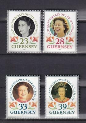 Guernsey MNH 1992 sc#471-474 QEII 40th Anniversary Accession to Throne