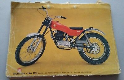 Montesa Cota 123 1972 manuale uso +catalogo ricambi originale owner parts manual