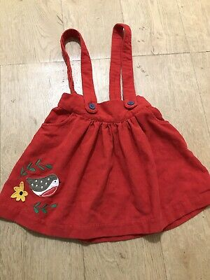 Frugi Christmas/Winter Girls Robin Skirt Dress Braces age 3-4 Years VGC Xmas