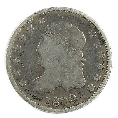 1830 United States Silver Capped Bust Half Dime - Fine