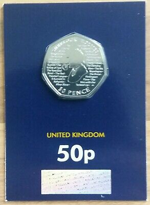 2019 Brilliant Uncirculated Sherlock Holmes 50p Coin, A must for any collector