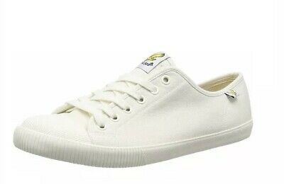 TRS*Lyle And Scott Men's Tima Canvas Trainers Off White Lace Up Pumps Size UK 8