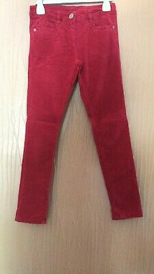 Girls Age 9 Years Next Red Velour Feel Fine Cord Skinny Jeans/Trousers