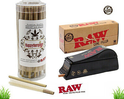 RAW   King Size Pre-Rolled Cones - (100 Pack with Cone Filler) + sticks