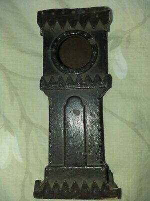Antique Pocket Watch Holder In The Form Of A Grandfather Clock