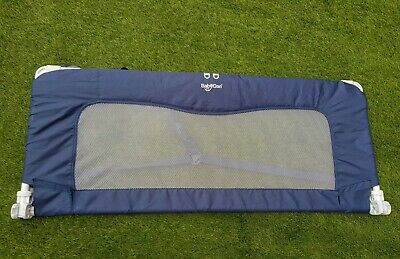 Portable BabyDan Sleep'N'Safe Bed Guard, Colour: Navy Blue. Safety Bed Barrier