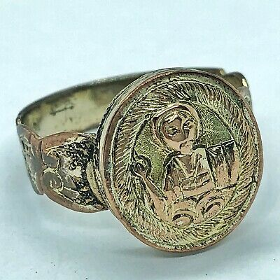 Late Or Post Medieval Brass Ring European Metal Detector Find Artifact Antique