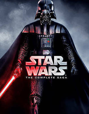 Star Wars: The Complete Saga (DVD, 2015, 9-Disc Set) ALL 6 MOVIES