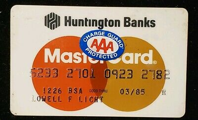 Huntington Banks MasterCard exp 1985♡Free Shipping♡cc314♡