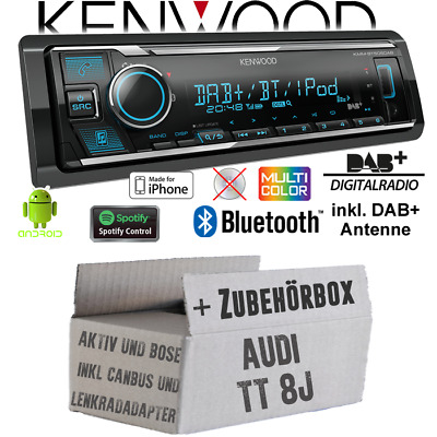 Set KENWOOD Autoradio Pour VW Bus t4 Bluetooth Spotify cd//mp3//usb installation accessoires//