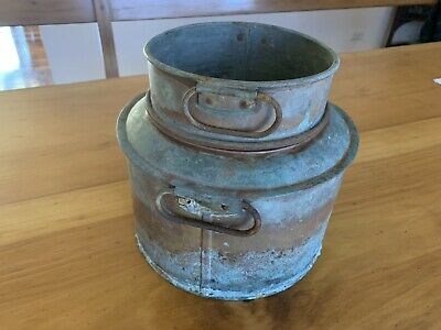 Antique Copper Double Boiler Glue Pot Garden Unique Planter