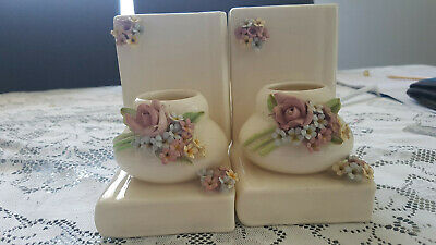 Vintage rawson Pottery Gold Book Ends