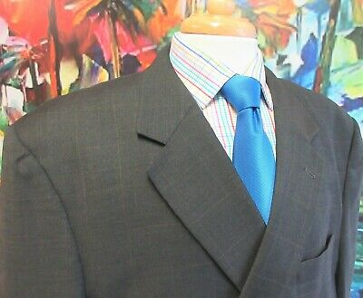 50 LONG- JOS. A. BANK Mens 100% WOOL SPORT COAT TAUPE WINDOW PANE