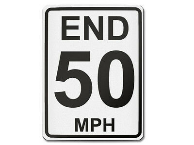 Traffic Sign USA - End 50 Mph