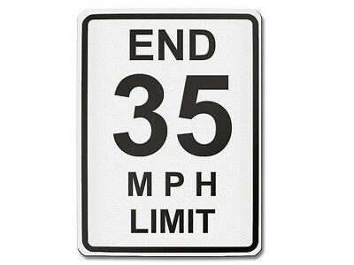 Traffic Sign USA - End 35 mph Limit