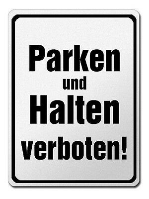 Park- and Halteverbotsschild Made of Aluminium - Parking Keep Verboten! S3732