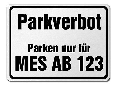 Parkverbotsschild Made of Aluminium with Exceptional Your Desired Plate S3737