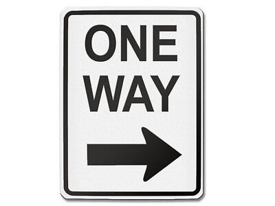 Traffic Sign USA - One Way Right S5701