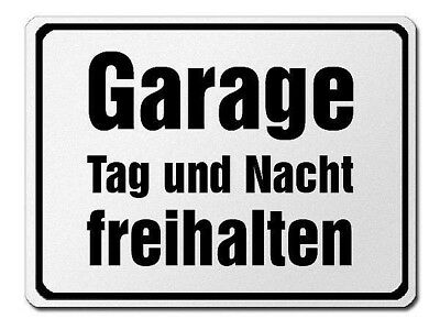 Parkverbotsschild Made of Aluminium - Garage Tag and Night Keep Clear S3706