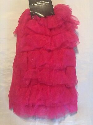 New Women's Hot Pink Tulle Leg Warmers Exotic Dance Costume Theatre Accessory