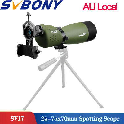 Spotting ScopeFMC Straight Spotting Scope 25-75x70mm Waterproof+phone Adapter AU