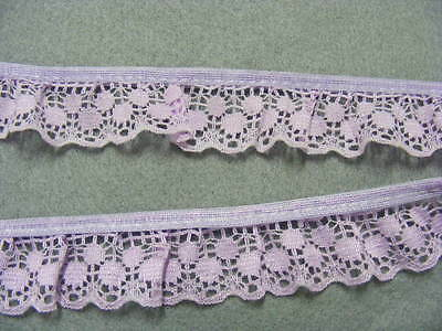 Gathered  Lace Lilac  14 metres  (170a) (Second)