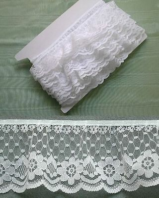 Gathered Lace White x 10 (2231)  second