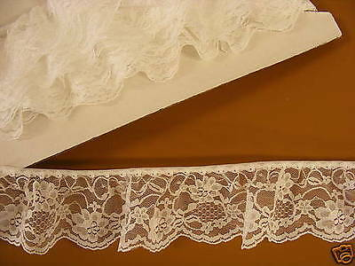 Gathered White Lace 7.5 metres (48491)