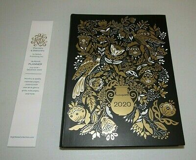 """Dinara Mirtalipova Art """"Floral In Gold"""" 2020 Monthly Weekly Planner**  New!"""