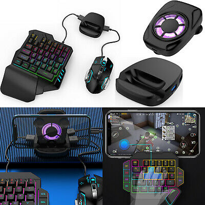 PUBG Mobile Gamepad Controller Keyboard Mouse Converter+RGB Fan for Android IOS