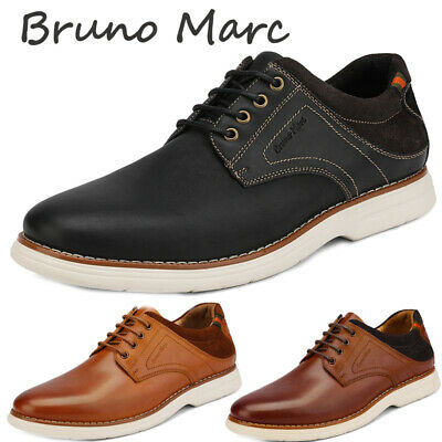 Bruno Marc Men Genuine Leather Lace Up Oxford Sneakers Casual Wingtip Dress Shoe