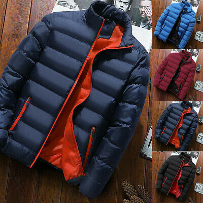 Winter Warm Mens Puffer Bubble Bomber Coat Quilted Padded Jacket Zipper Outwear