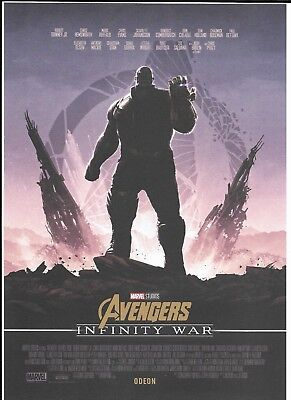 Avengers: Infinity War, Limited Edition Poster, Odeon Exclusive, Thanos NEW