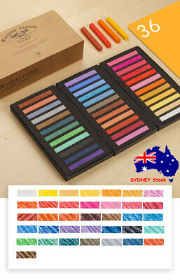 36 Color Artist Chalk Soft Pastel Full Length Square Stick High-Quality Pigments