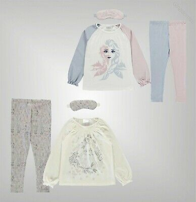 Girls Character Long Sleeves Crew Frozen Pyjamas Set Sizes Age from 3 to 10 Yrs