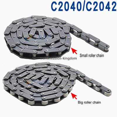 Double Pitch Roller Chain Carbon Steel C2040 C2042 C2050 C2060 For Conveying