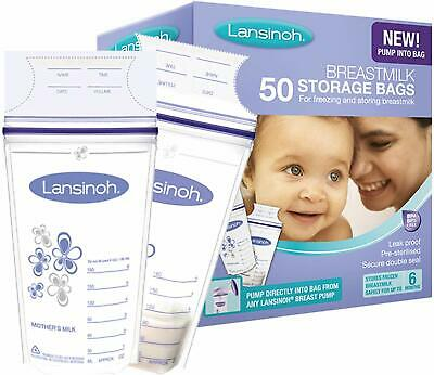 Lansinoh Breast Milk Storage Bags- Choose From 25 or 50 Bags