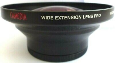 Olympus Camedia Wide Extension Lens Pro WCON-08B  62mm / 105mm Inc Caps.