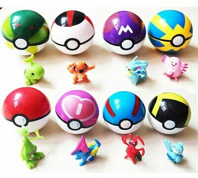 5-7cm 8-24Pcs Pokeball Ball set Action Figures Boxed Kids Christmas Toy Gift US