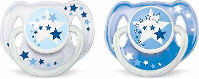 Baby Philips Avent Soother Dummy Nipple 6-18 m Pacifier Night Time Glow in Dark