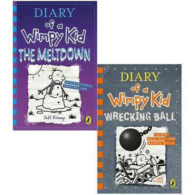 Jeff Kinney 2 Books Collection Set Diary of a Wimpy Kid Series Hardback NEW