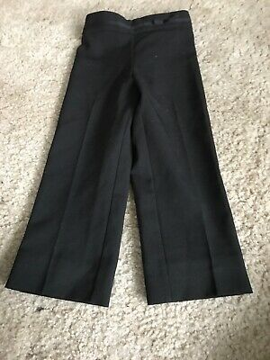 Girls Black School Trousers Aged 4-5 Years With Adjustable Waist