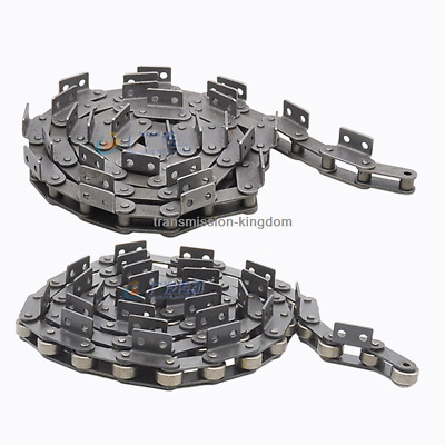 Roller Chain Conveyor Driving Chain With Single Side Curve Plate Double Hole