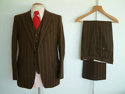 """1970's 3 PIECE SUIT..FLARES..40"""" x 34""""..70s DISCO..GLAM..BESPOKE 70s..SUPER COND"""