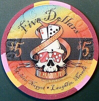 $5 Casino Chip. Golden Nugget, Laughlin, NV. River Run 2000 #86 of 1000. O66.