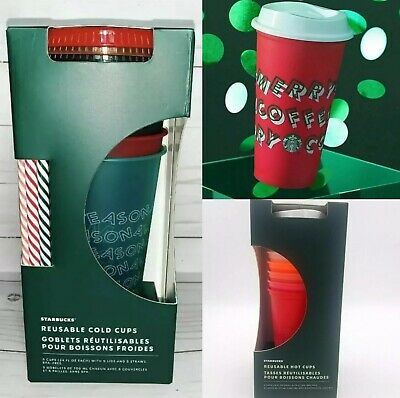 Starbucks Holiday Christmas 2019 Reusable Hot or Cold Cups